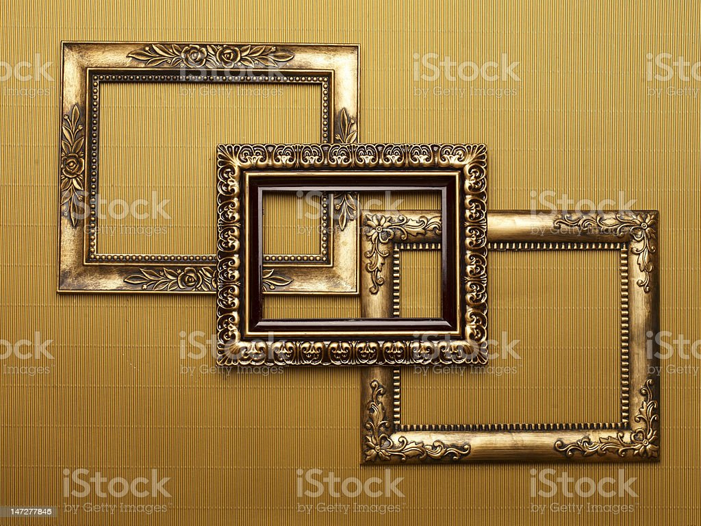 Gold Frames royalty-free stock photo