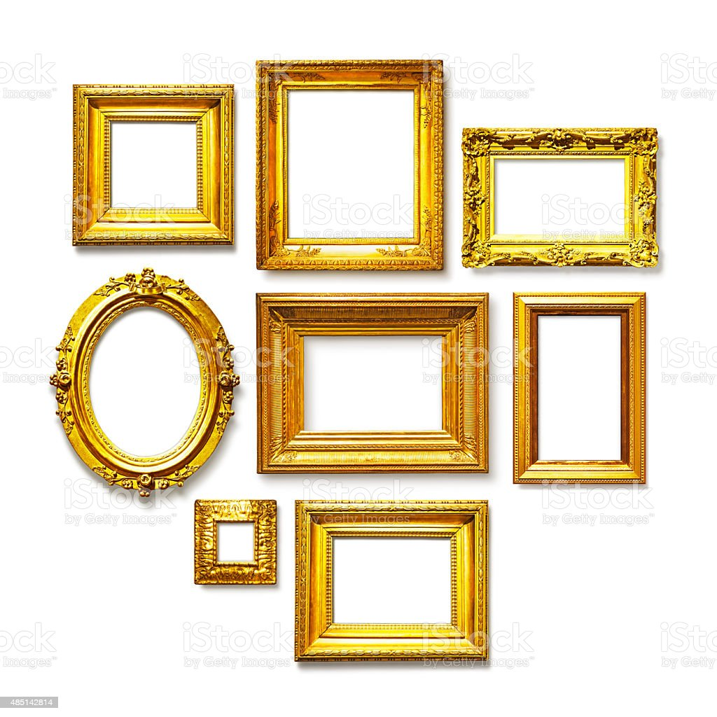 Gold frames stock photo
