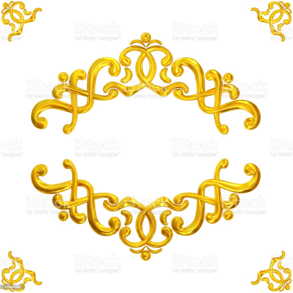 gold framework stock photo