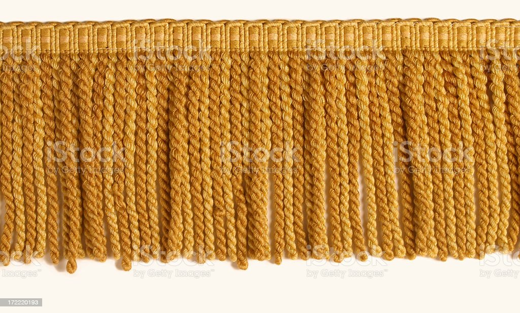 Gold Fringe stock photo