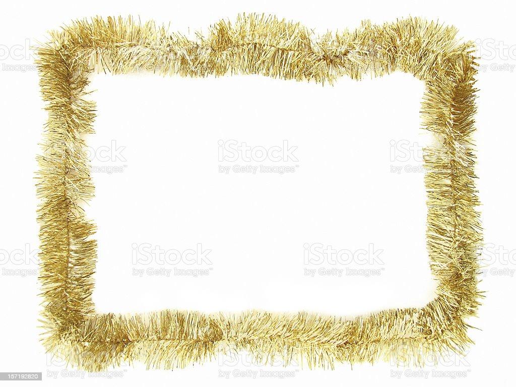 Gold Garland Border stock photo