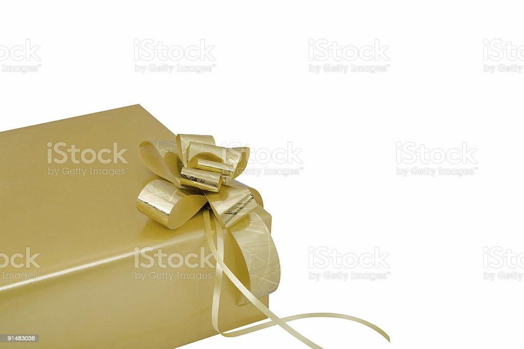 Gold Gift Box XL royalty-free stock photo