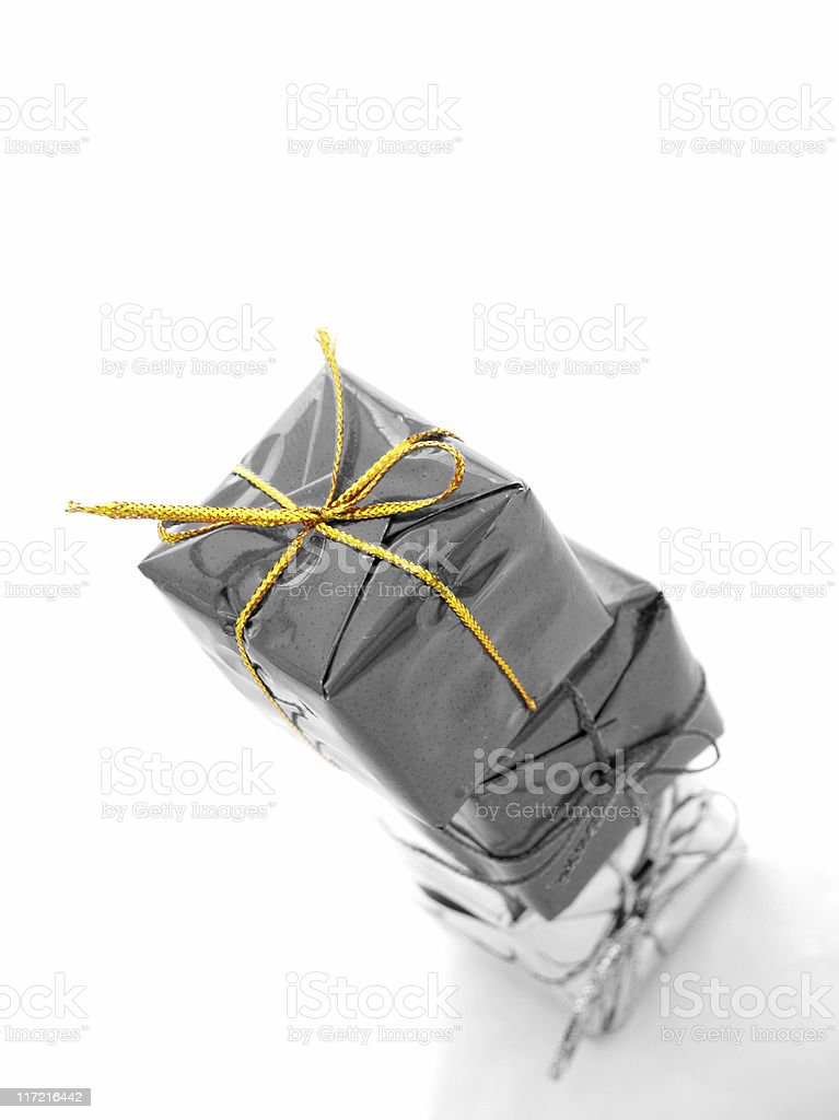 Gold Gift royalty-free stock photo