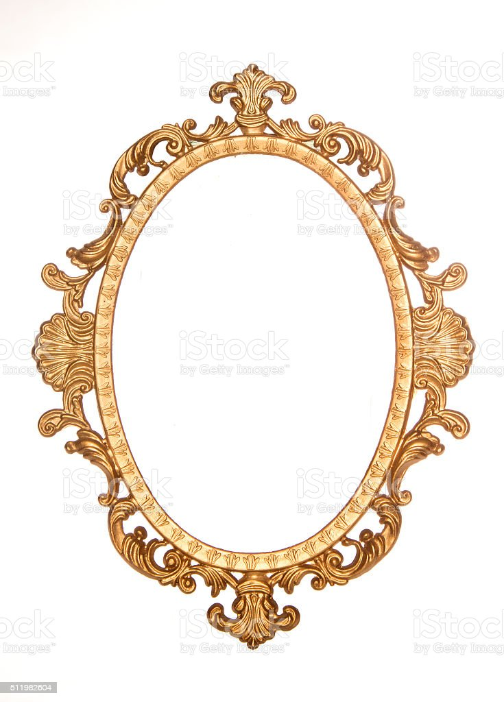 Gold gilt decorative rococo frame stock photo