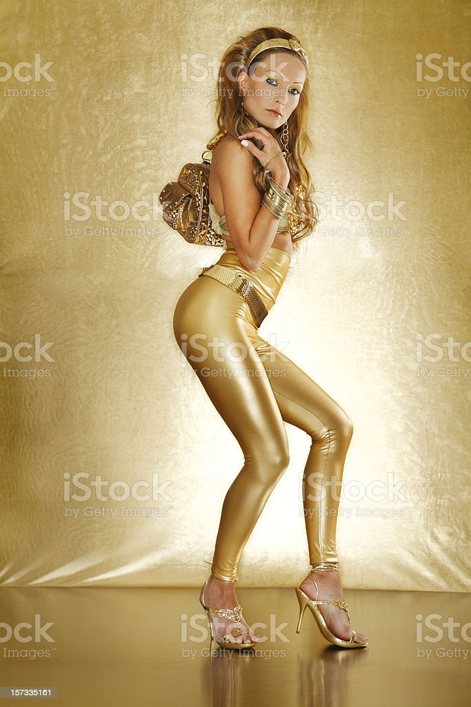 Gold Glamour royalty-free stock photo