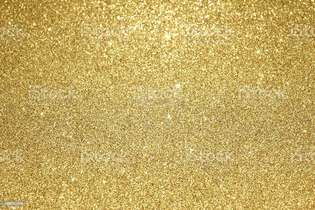 Gold glitter christmas background stock photo