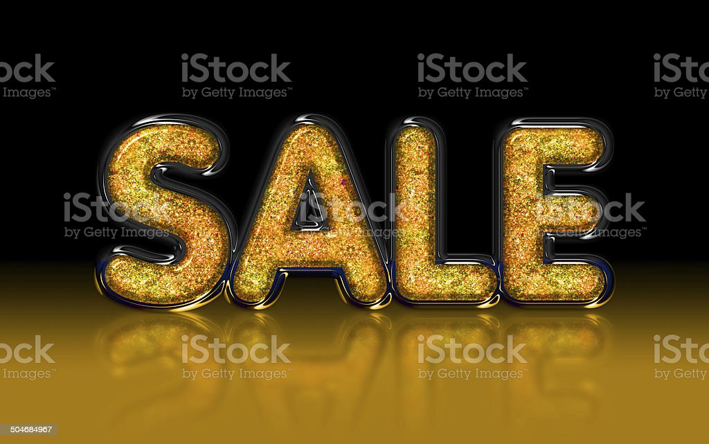 SALE gold glitter, glass, diamond effect royalty-free stock photo