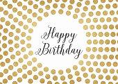 Gold glitter happy birthday background