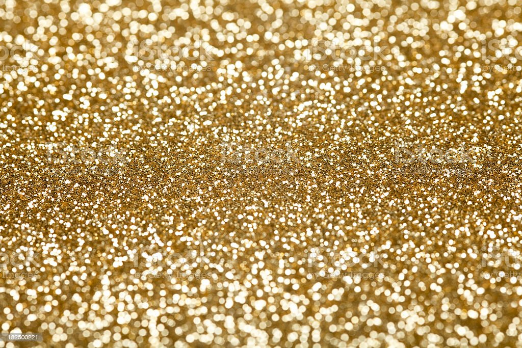 Gold Glitter. stock photo