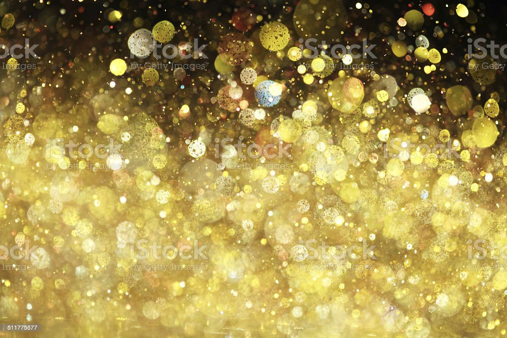 Gold glitter stock photo