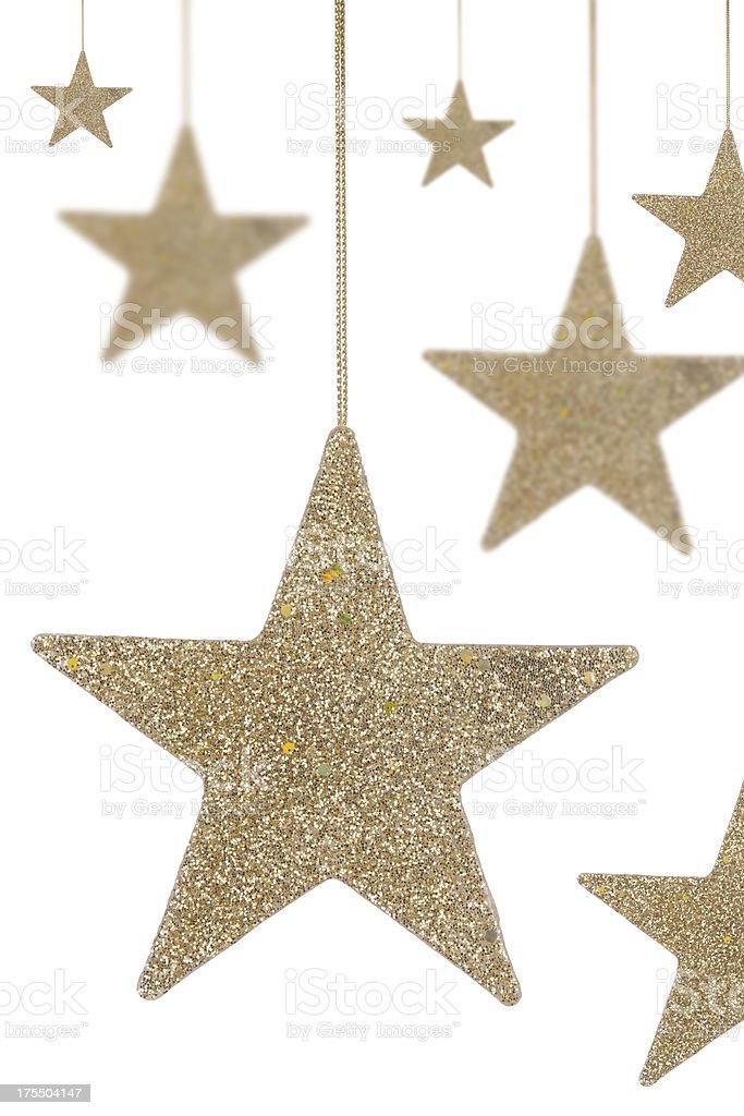 Gold Glitter Stars stock photo