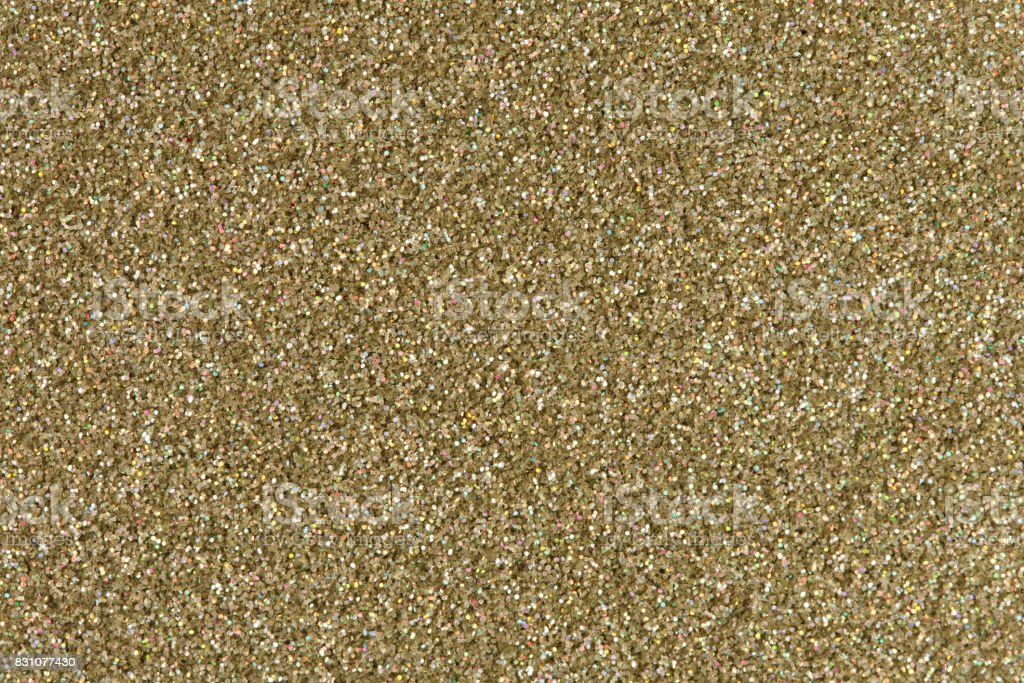 Gold glitter texture. Low contrast image stock photo