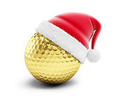 gold golf ball sant hat
