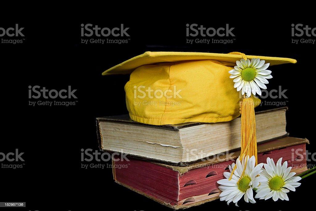 Gold Graduation Cap royalty-free stock photo