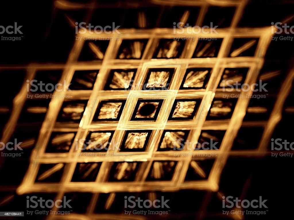 Gold grid nanotechnology royalty-free stock photo