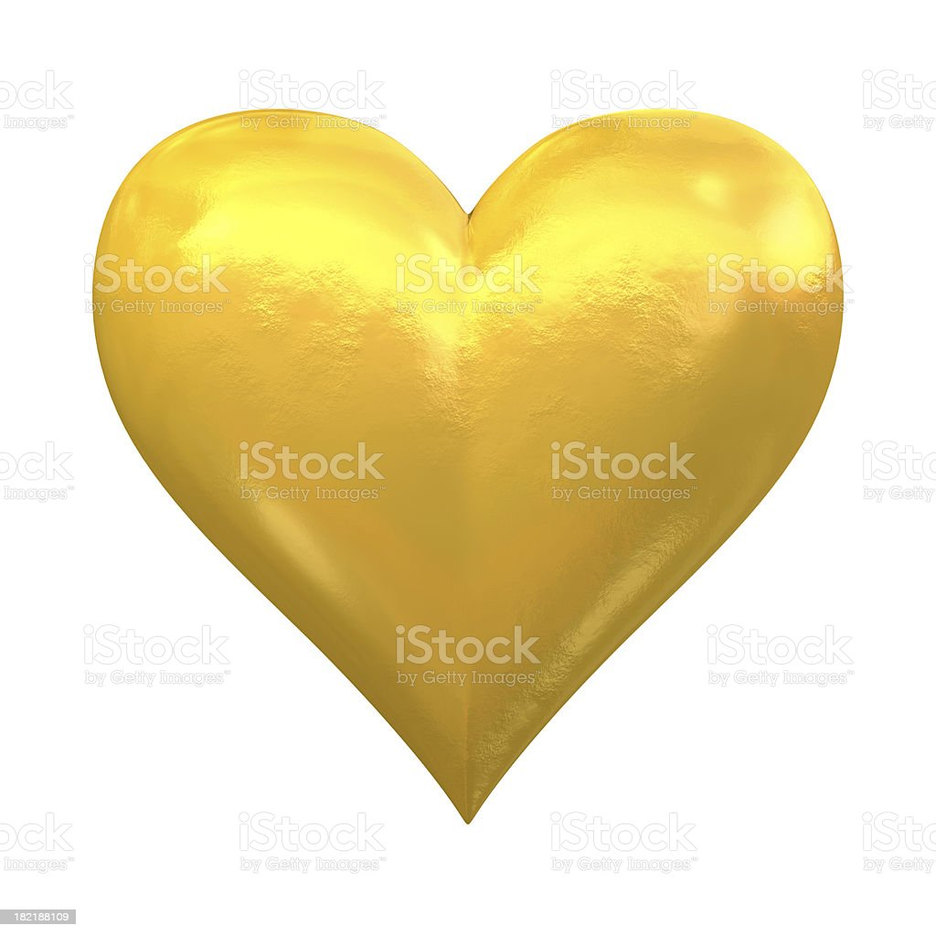 Gold Heart stock photo