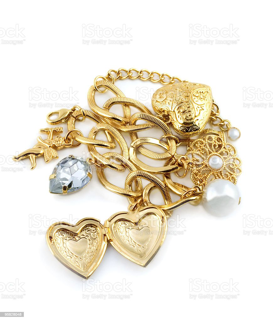 gold heart royalty-free stock photo