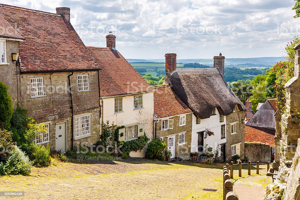 Gold Hill Shaftesbury Dorset stock photo