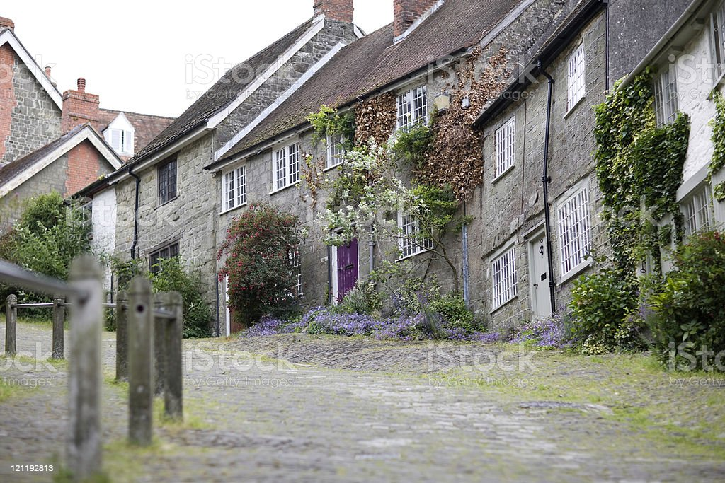 Gold Hill, Shaftesbury royalty-free stock photo