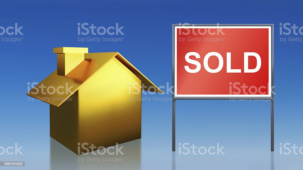 gold house sold sky royalty-free stock photo