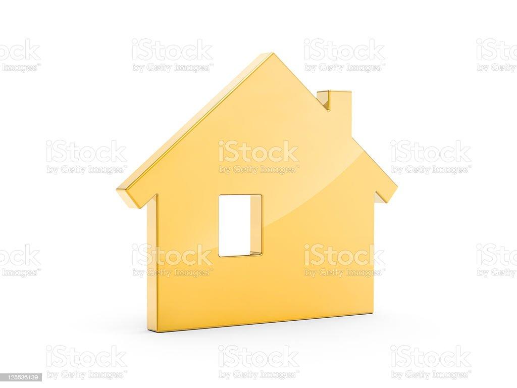 Gold House Symbol royalty-free stock photo