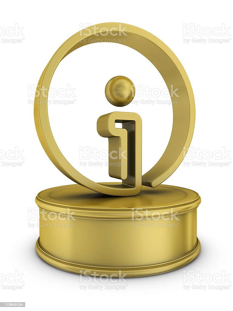 gold information award royalty-free stock photo