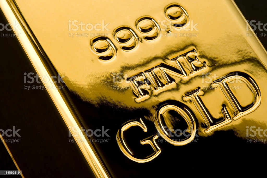 Gold Ingot royalty-free stock photo