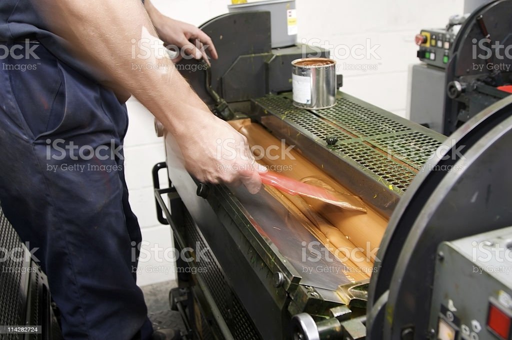 Gold Ink Duct... royalty-free stock photo