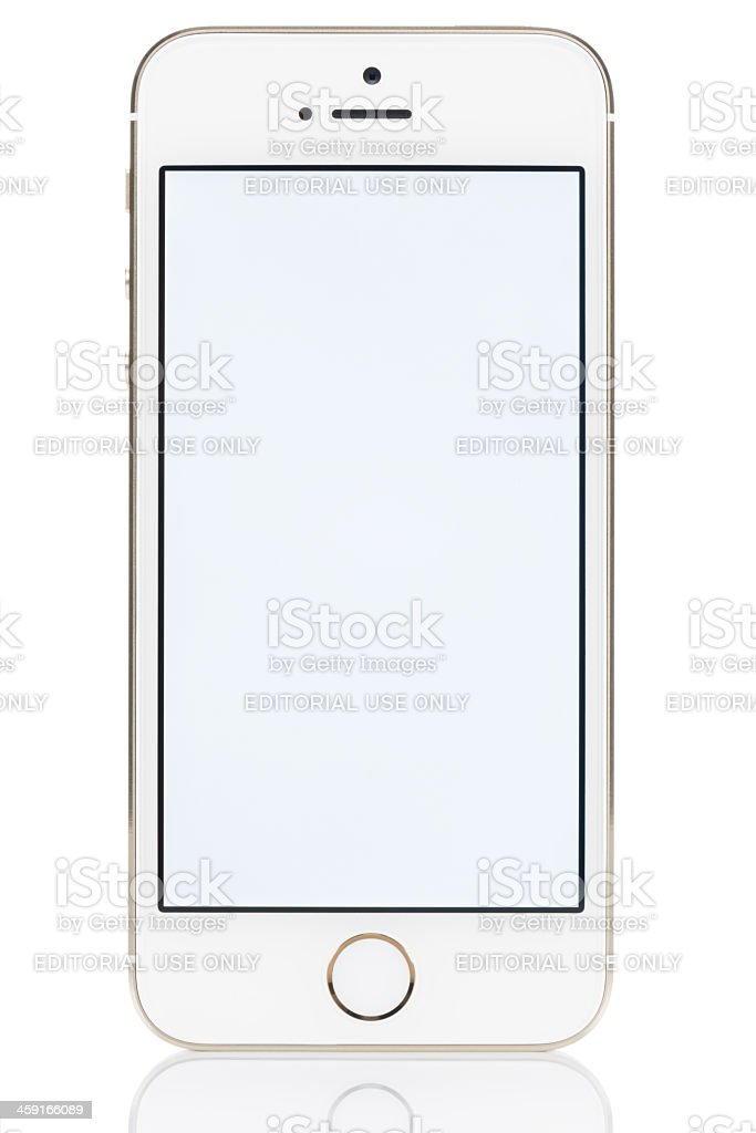 Gold iPhone 5S stock photo