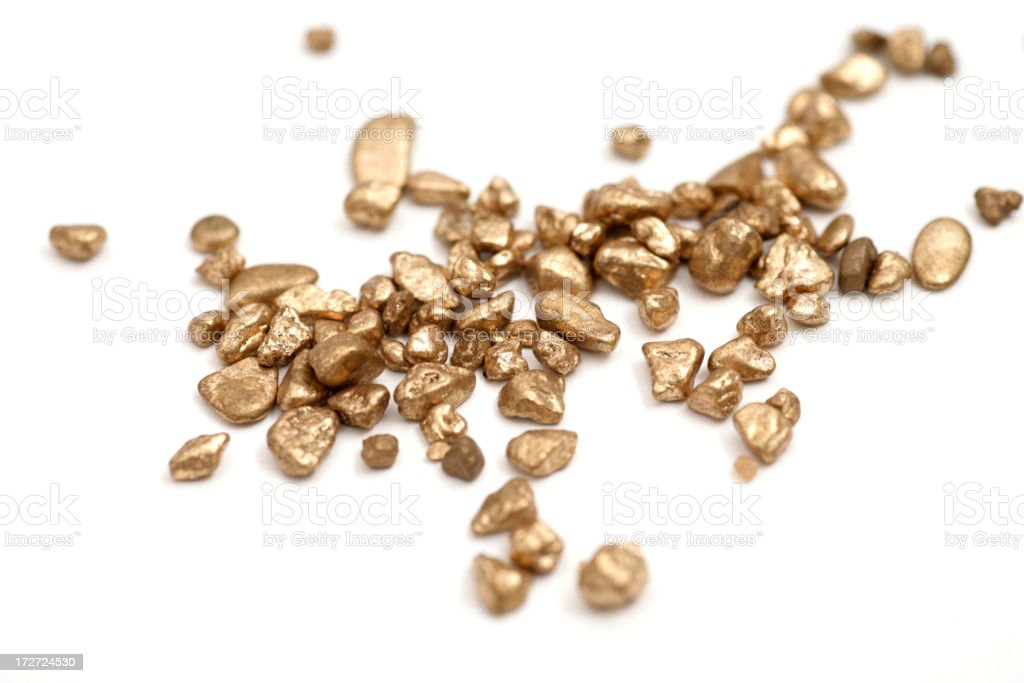 Gold isolated on white royalty-free stock photo