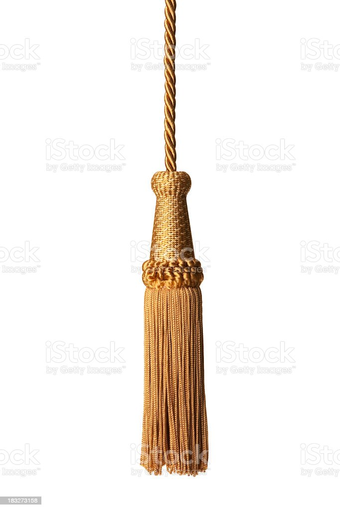 Gold isolated tassel royalty-free stock photo