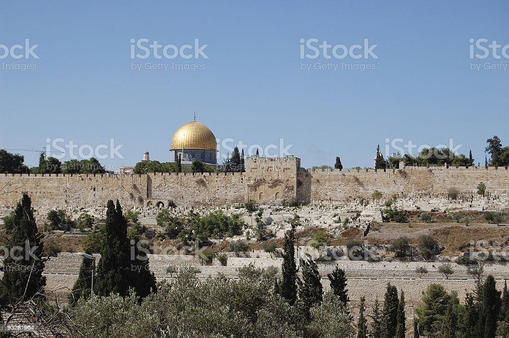 Gold Jerusalem royalty-free stock photo