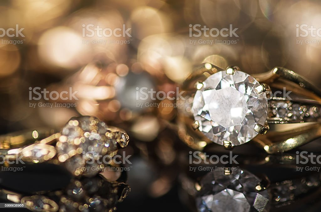 Gold jewelry. stock photo