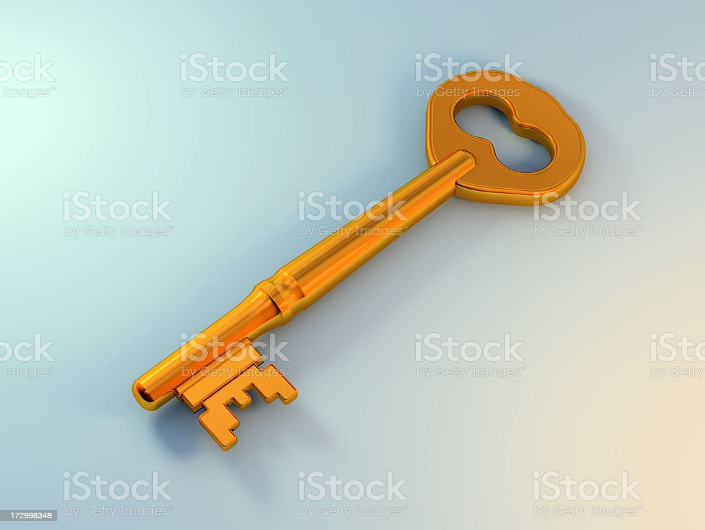 gold key royalty-free stock photo
