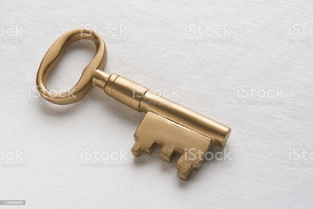 gold key royalty-free stock photo