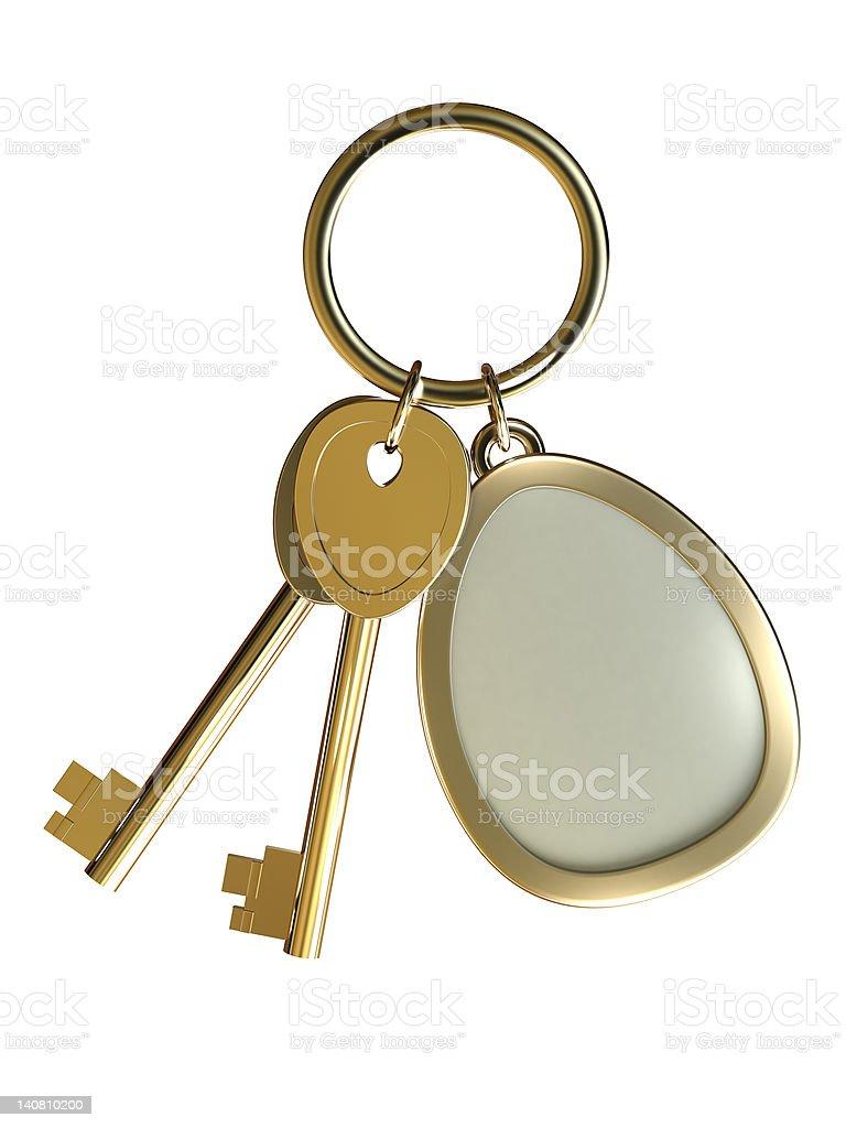 Gold Keys royalty-free stock photo