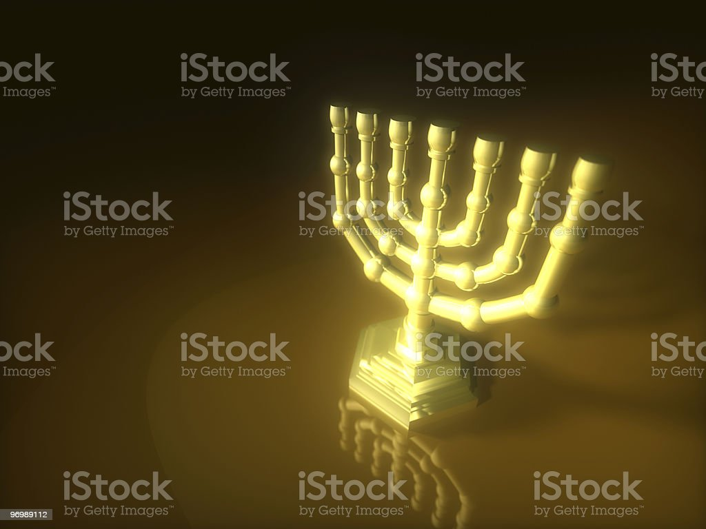 Gold Lampstand stock photo