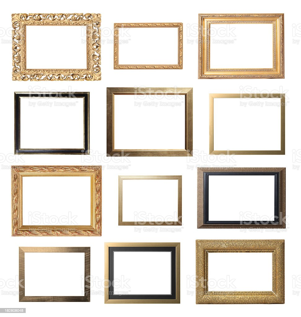 Gold Landscape Frame Selection stock photo