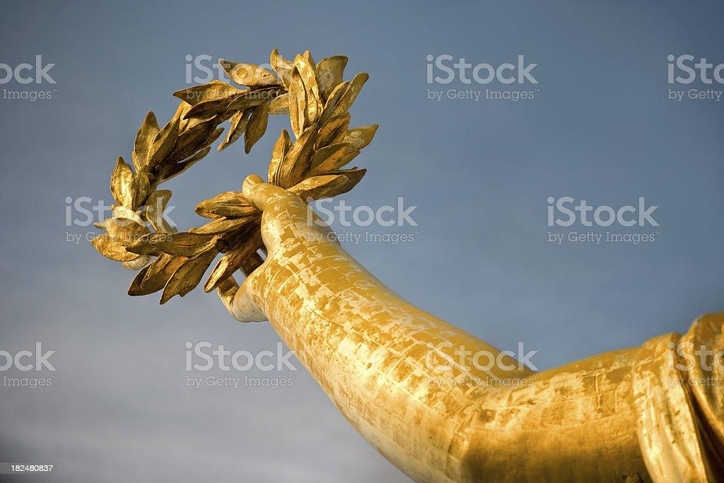 Gold laurel of Berlin royalty-free stock photo