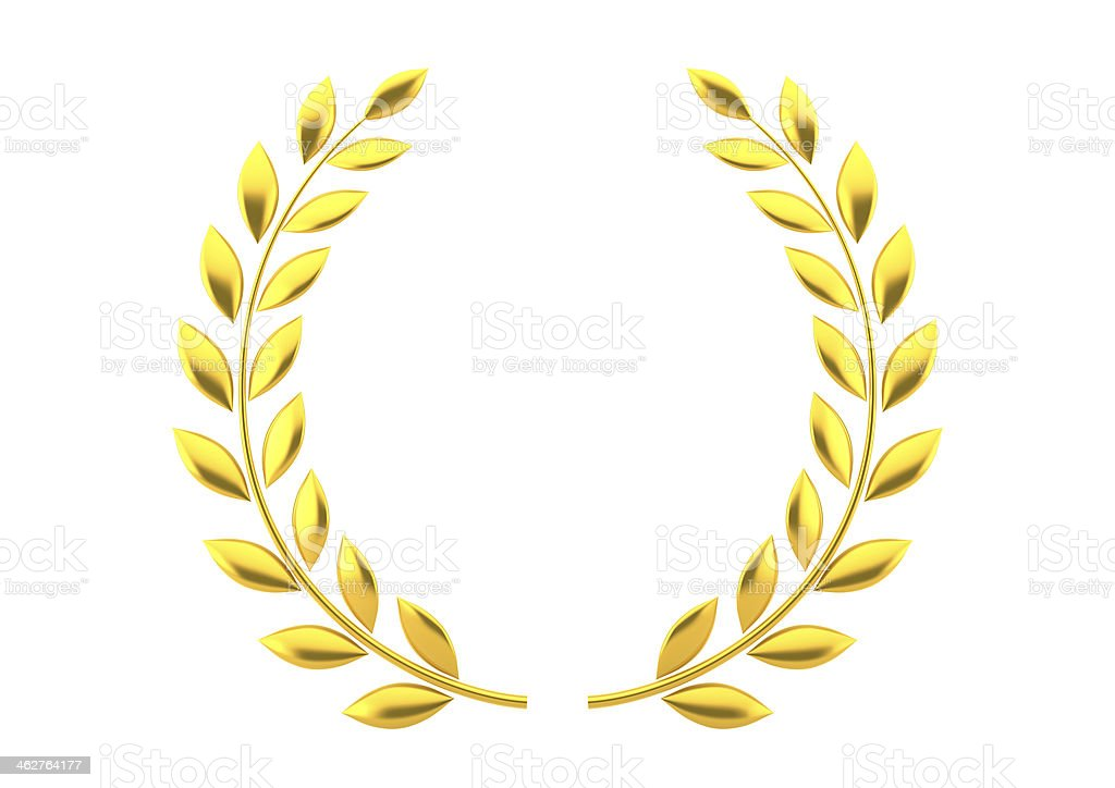 Gold laurels royalty-free stock photo