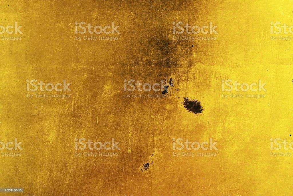 Gold Leaf Background Damaged royalty-free stock photo