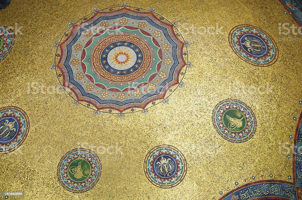 Gold Leaf Byzantine Ceiling Background royalty-free stock photo
