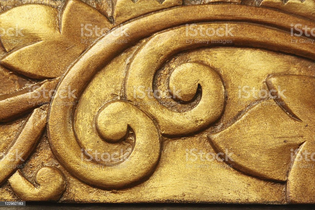 Gold Leaf Carving royalty-free stock photo