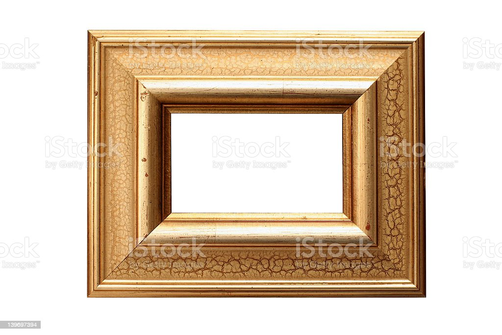 Gold leaf picture frame royalty-free stock photo