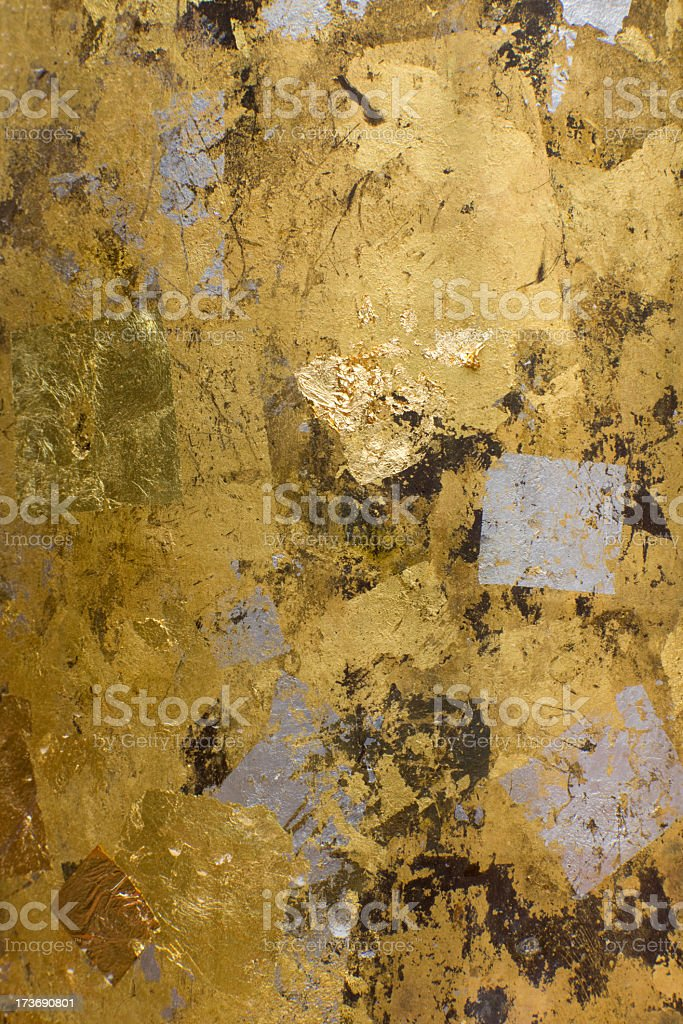 Gold leaf texture background. royalty-free stock photo