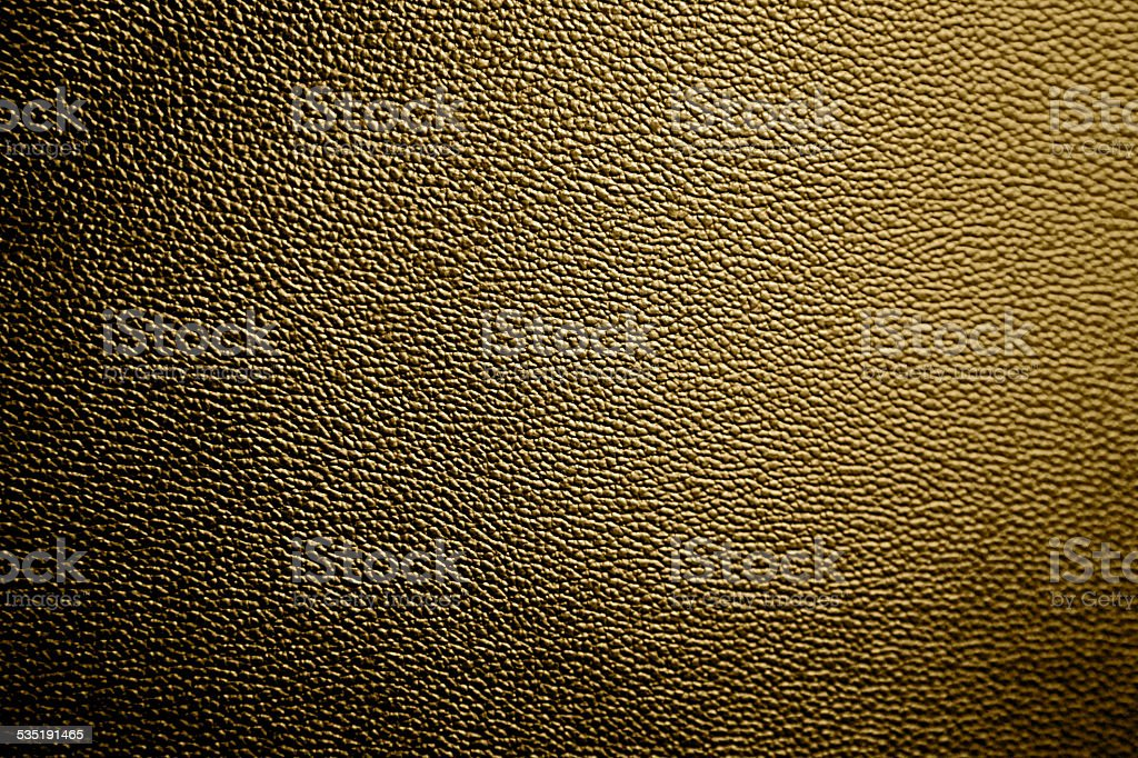 Gold Leather Texture Cool Pattern Dyed Gold Background New Fabric stock photo