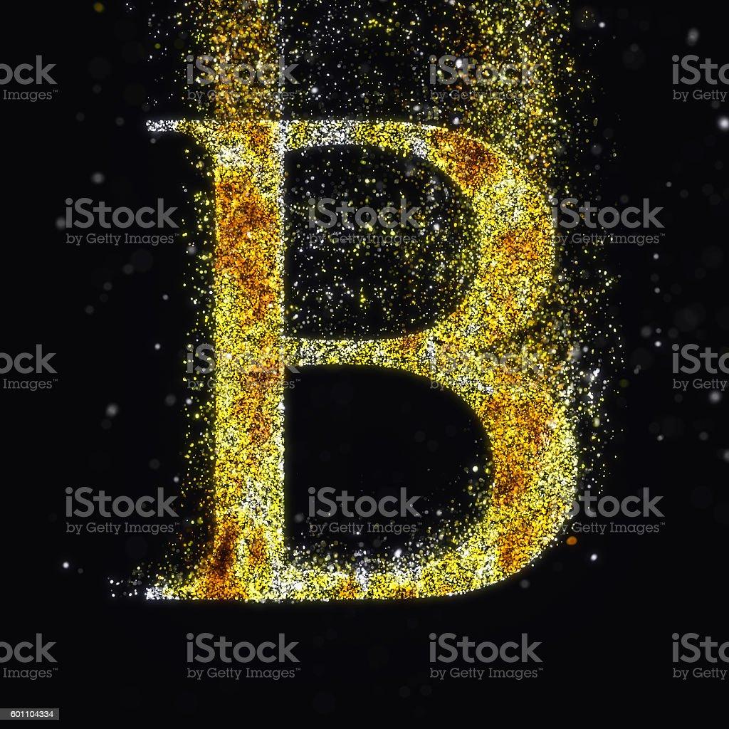 Gold letter B stock photo