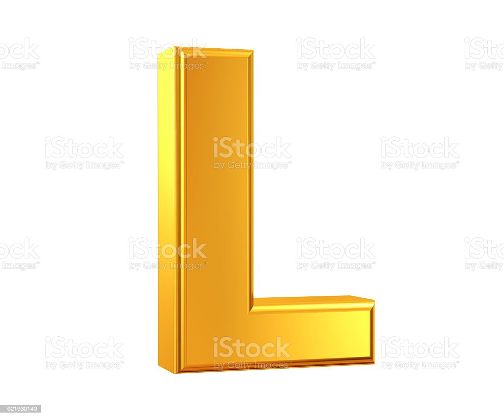 Gold Letter L stock photo
