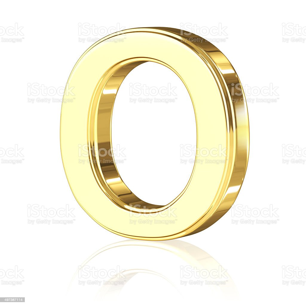 Gold Letter O stock photo