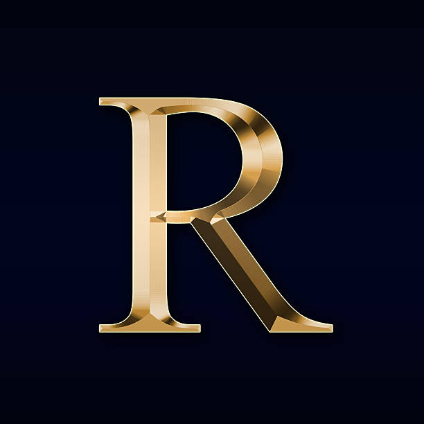 Gold letter  R  on a red background stock photo. Letter R Pictures  Images and Stock Photos   iStock
